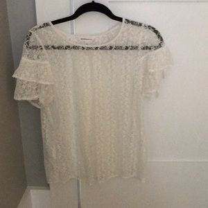 Bcbg generation white lacy top never worn size M